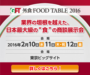 Eating out FOOD TABLE2016